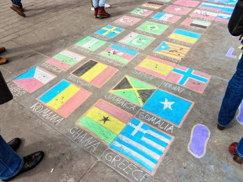 Steaguri în Trafalgar Square